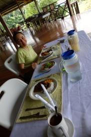 Dining at Iwokrama Research Station, Guyana -- Karina Noriega
