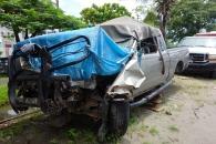 Crashed truck, Georgetown, Guyana -- Karina Noriega