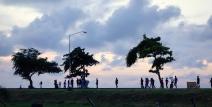 Sea wall at Sunset, Georgetown, Guyana -- Karina Noriega