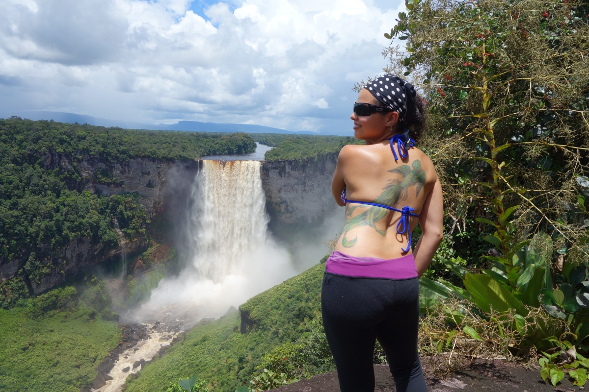 Quetzal Flies @ Kaeiteur Falls, Guyana -- Karina Noriega