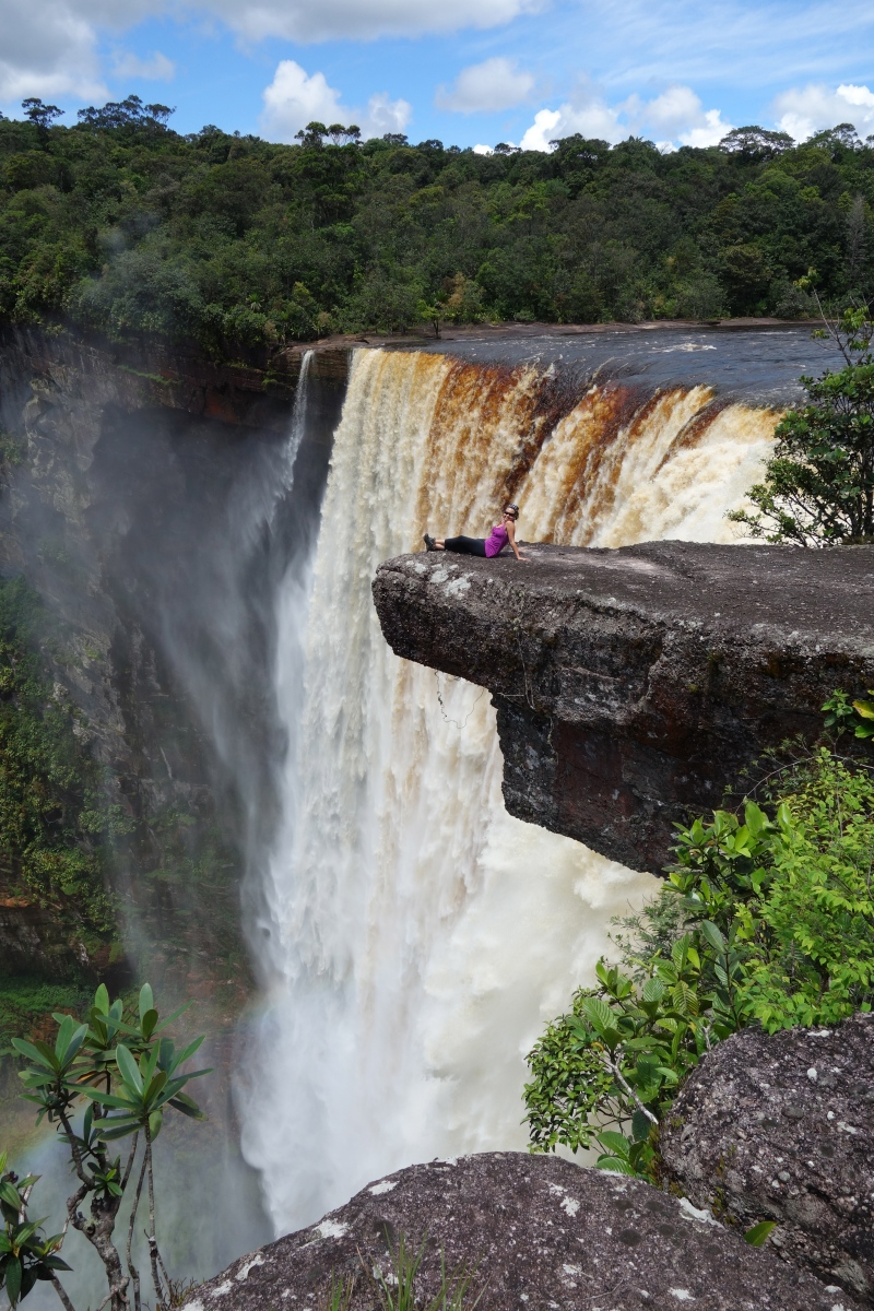 Living on the Edge, Kaeiteur Falls, Guyana -- Karina Noriega