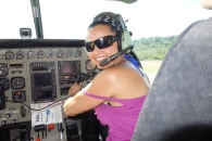 Co-pilot for the day, Guyana -- Karina Noriega