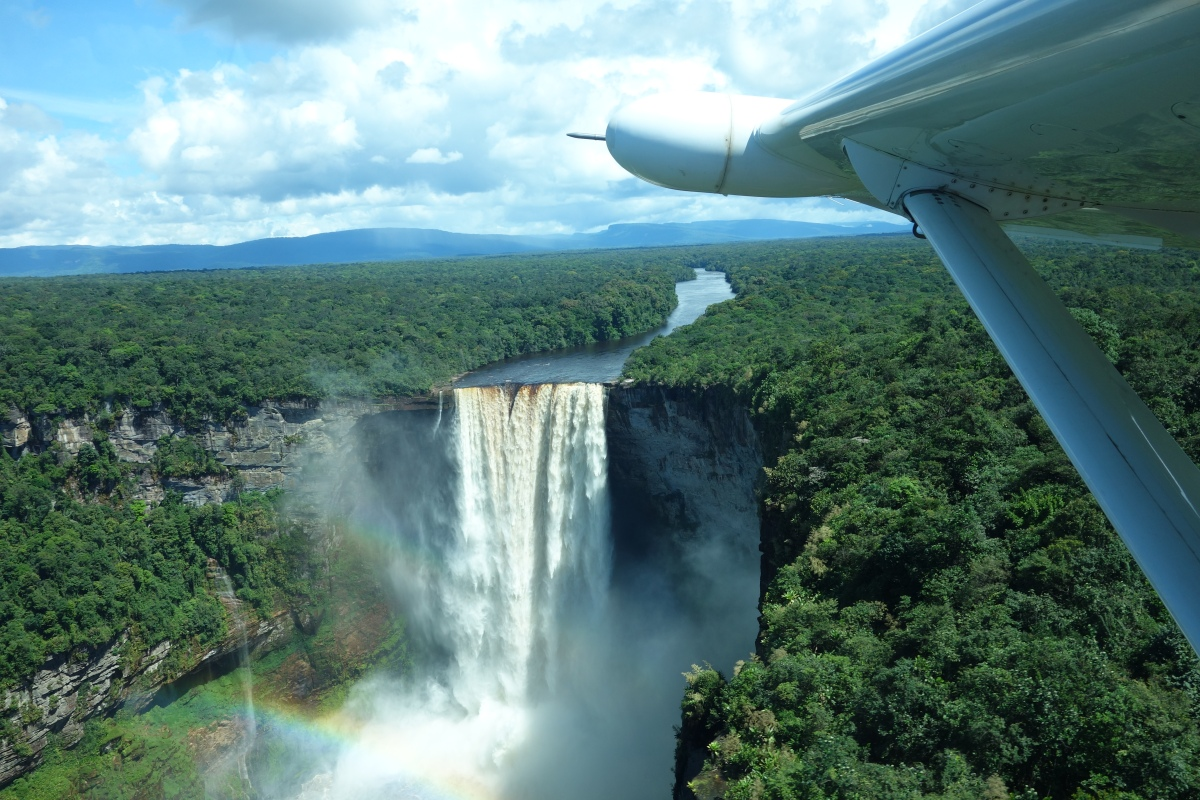 Flying over Kaeiteur Falls, Guyana -- Karina Noriega