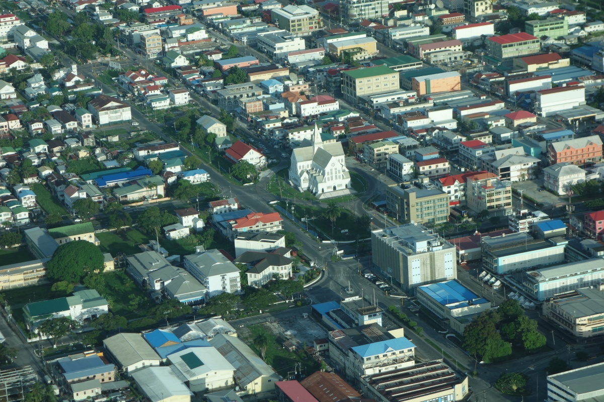 Georgetown from above, Guyana -- Karina Noriega