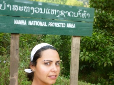 Entering the protected area near Luang Nam Tha, Laos - Karina Noriega