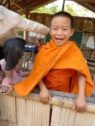 Happy Little Monk, Somewhere in Laos - Karina Noriega