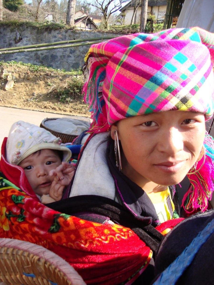 H'mong woman and child, Sapa, Vietnam -- Karina Noriega