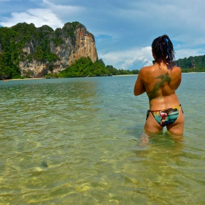 Quetzal tests the warm Andaman Coast water - Karina Noriega