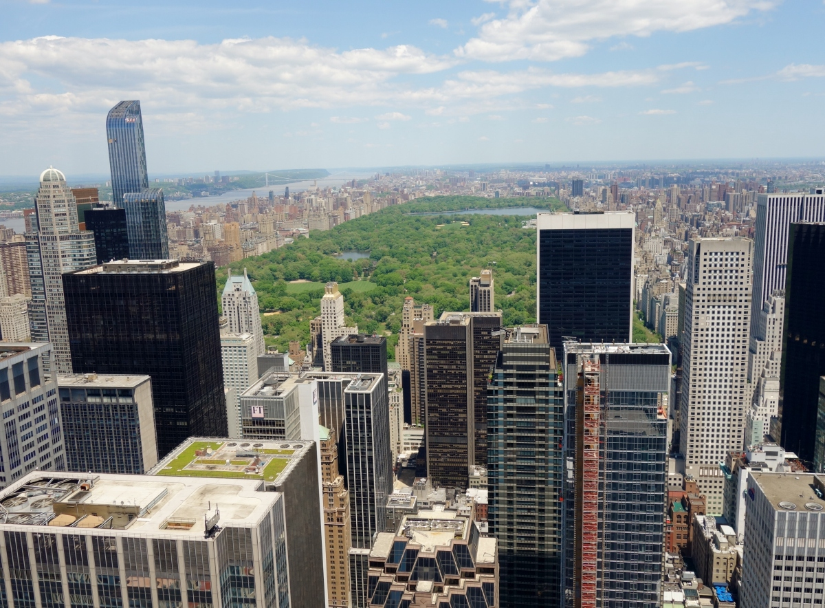 Beautiful view of Central Park from The Top of the Rock, Rockefeller Centre, Manhattan, NY, USA -- Karina Noriega