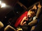 Sleeping in the car, somewhere near Meadows of Dan, Virginia, USA - Karina Noriega