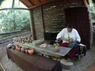 Traditional pottery @ Oconaluftee Indian Village, Cherokee, North Carolina, USA