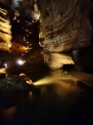 Beautifully light path through the lower level cavern, Blanchard Springs Cavern, Arkansas - Karina Noriega