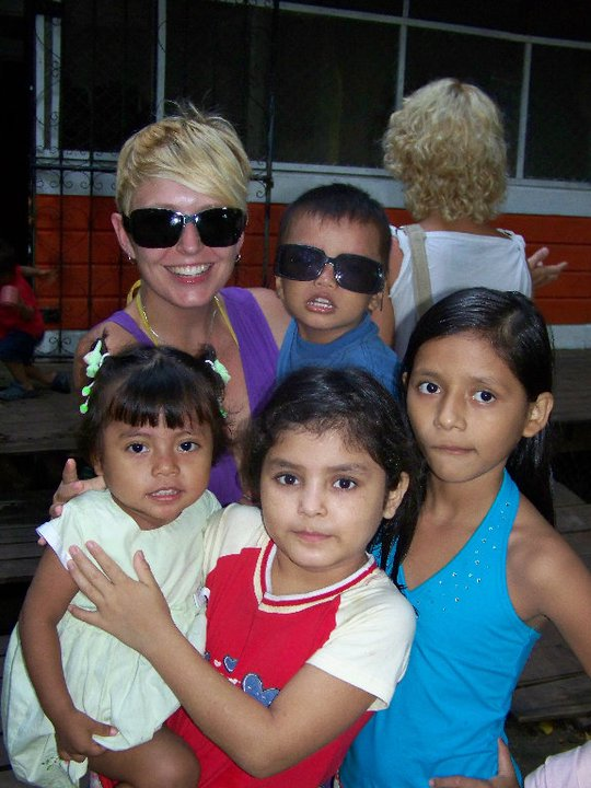 April and kids, First visit to Casa Guatemala, Rio Dulce, Guatemala - Karina Noriega