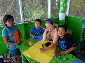 Making Christmas cards, 4th visit to Casa Guatemala, Rio Dulce, Guatemala - Karina Noriega