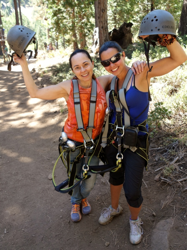 Me and Ma @ North Tahoe Treetop Adventure, California, USA - Karina Noriega