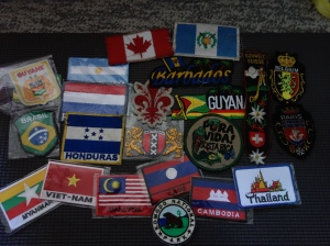 My growing patch collection -- Karina Noriega