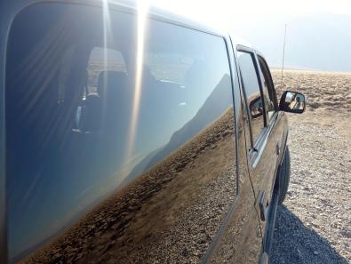 Across Death Valley, California.