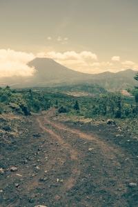 View of Volcan de Agua from Volcan Pacaya, Guatemala -- Karina Noriega