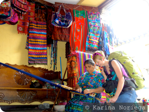 Observing a Maya woman weave traditional textiles -- Guatemala -- Karina Noriega