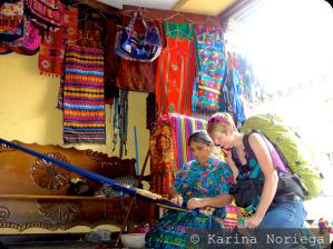 Observing a Maya woman weave traditional textiles -- Guatemala -- Karina Noriega