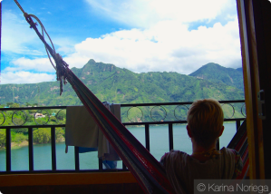 Breathtaking views, relaxing in San Pedro, Atitlan. This penthouse suite cost us $5/night for 2 people!!! -- Guatemala -- Karina Noriega