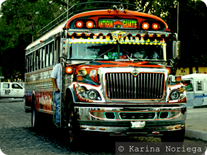 The infamous, colorful, Chicken Buses of Guatemala -- Karina Noriega