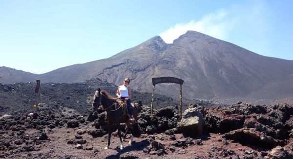 Zona de Riesgo - Risk Area - on the summit to the active Volcan Pacaya -- Guatemala -- Karina Noriega