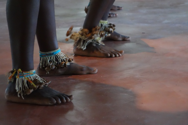Beautiful handmade anklet instruments added vigour and joy to their dance - Santigron, Suriname -- Karina Noriega