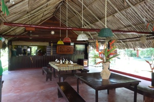 Dining area of the eco-hotel - Santigron, Suriname -- Karina Noriega