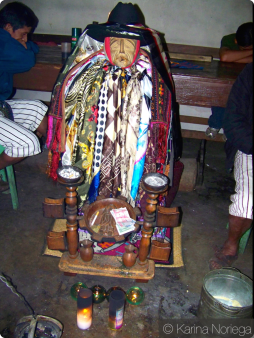 Mayan tradition mix with Catholic influence to create unique customs and beliefs like this Maximon in Atitlan -- Guatemala -- Karina Noriega