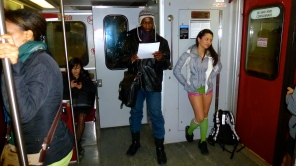 No Pants Subway Ride, Toronto, Canada -- Karina Noriega