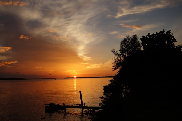 Sunset over the river - Paramaribo, Suriname -- Karina Noriega
