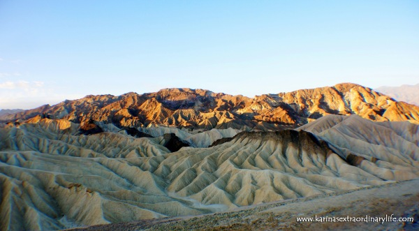 Through all the suffering we endured, to watch the rising sun break over the world famous Zabriskie Point, this was a moment in time I will never forget. Death Valley, California, USA -- Karina Noriega