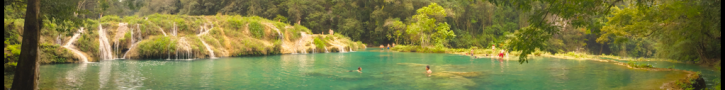 Lower pools, panoramic @ Semuc Champey, Guatemala -- Karina Noriega