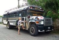 Before we actually got to ride a Chicken Bus, Atitlan, Guatemala -- Karina Noriega