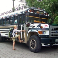 Before we actually got to ride a Chicken Bus, Atitlan, Guatemala -- Karina Noriega