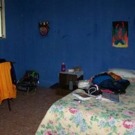 Homestay Room- Photograph of the accommodations provided by my homestay family. Xela, Guatemala -- April Beresford