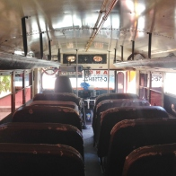 A rare sight: An empty chicken bus in Guatemala -- April Beresford