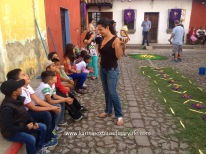 Congratulations are in order for an excellent alfombra Antigua, Guatemala -- Karina Noriega
