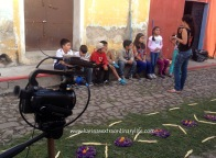 Prepping the kids on sharing with us all about their role in the project. Antigua, Guatemala -- Karina Noriega