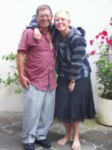 Spending time with my host family. Xela, Guatemala -- April Beresford