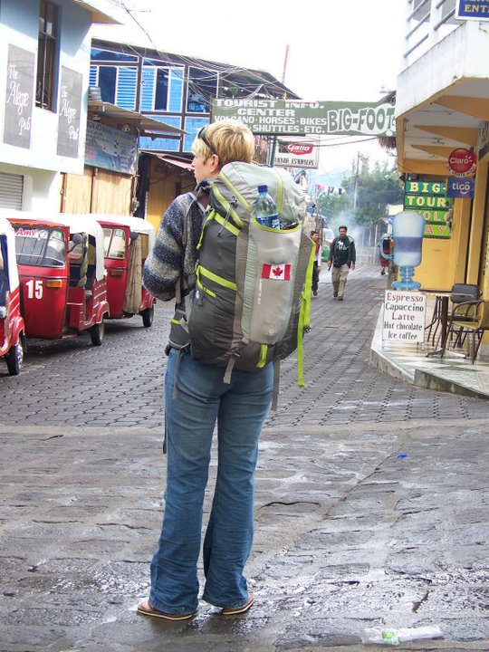 April on her very FIRST backpacking trip. (2010) SanPedro, Atitlan, Guatemala -- Karina Noriega