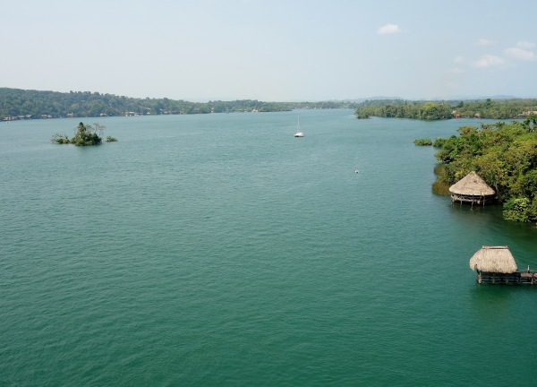 View from the bridge over the Rio Dulce, Guatemala -- Karina Noriega
