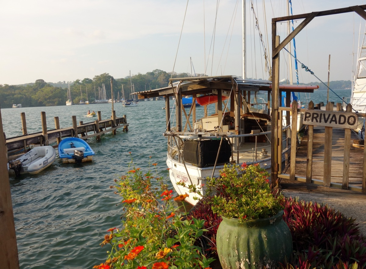 Bruno's Marina on the Fronteras side of Rio Dulce, Guatemala -- Karina Noriega