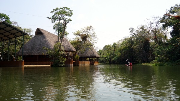 Estuary of Lake Izabal leading to Hotel Kangaroo, Rio Dulce, Guatemala -- Karina Noriega