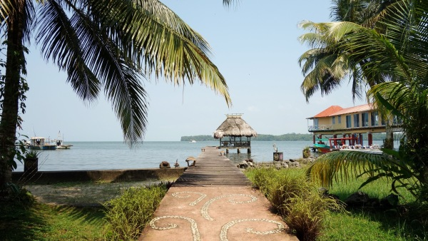 Waterfront pier over at Casa Rosada. Livingston, Guatemala -- Karina Noriega