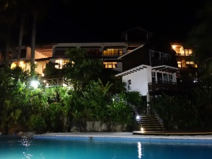 Poolside at Villa Caribe. Livingston, Guatemala -- Karina Noriega