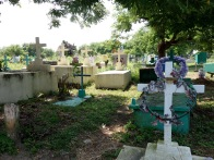 Local cemetery on the outskirt of the Garifuna town of Livingston, Guatemala -- Karina Noriega