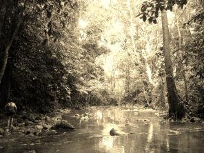 Follow the river through the jungle up to the waterfalls of Siete Altares, Guatemala -- Karina Noriega
