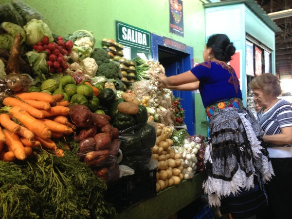 The beautiful colours of a Guatemalan market. Guatemala City, Guatemala -- April Beresford